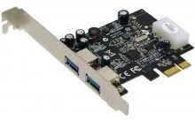 Контроллер Controller ST-LAB U-710 PCI-Ex1, USB3.0, 2 port-ext