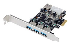 Адаптер Adapter ST-LAB U-750 PCI-Ex1, USB3.0, 3 port-ext, 1 port-int